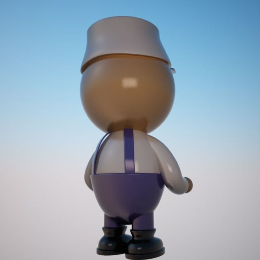 Cartoon Painter Character royalty-free 3d model - Preview no. 4