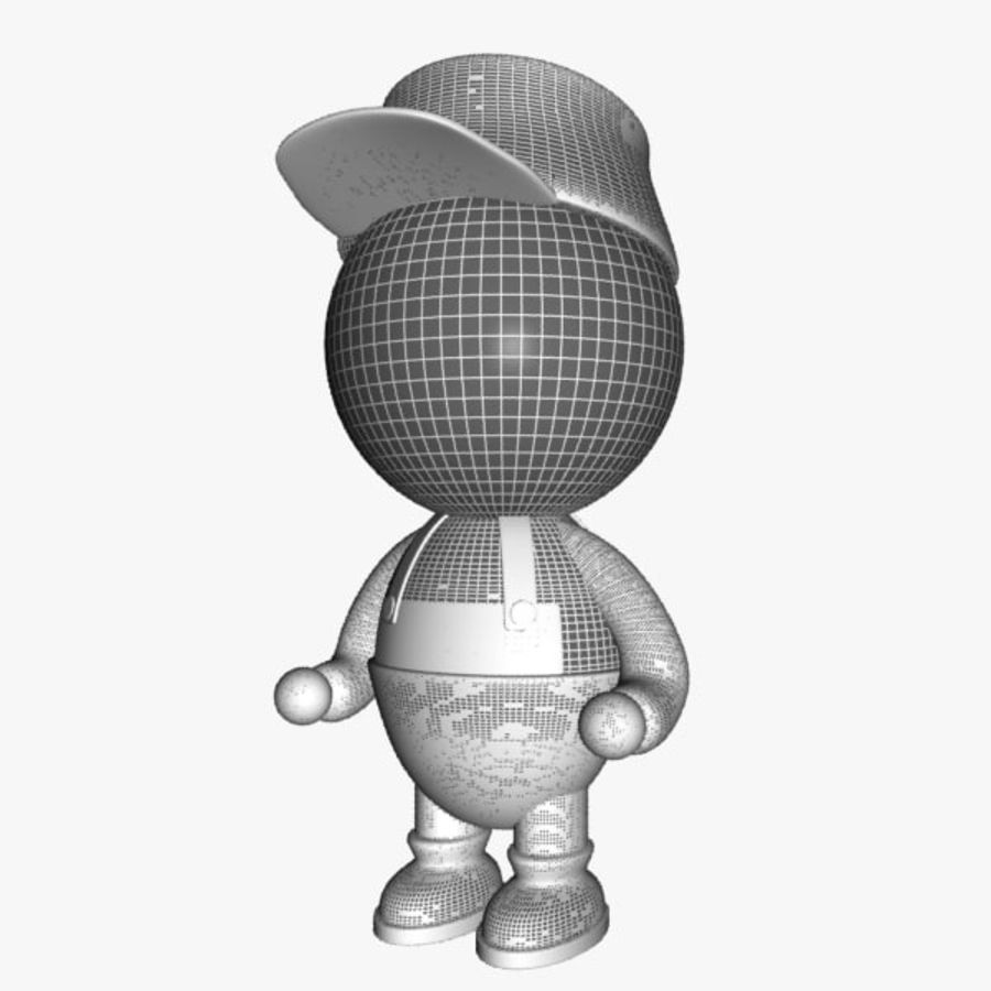 Cartoon Painter Character royalty-free 3d model - Preview no. 8