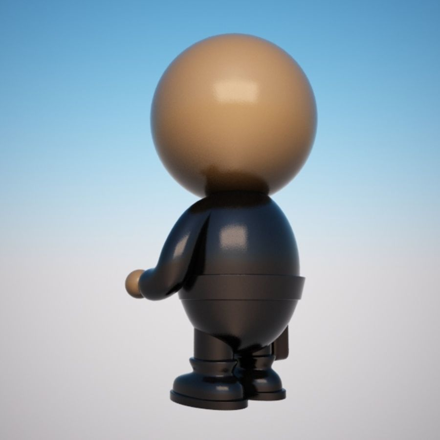 Cartoon Businessman Character royalty-free 3d model - Preview no. 6