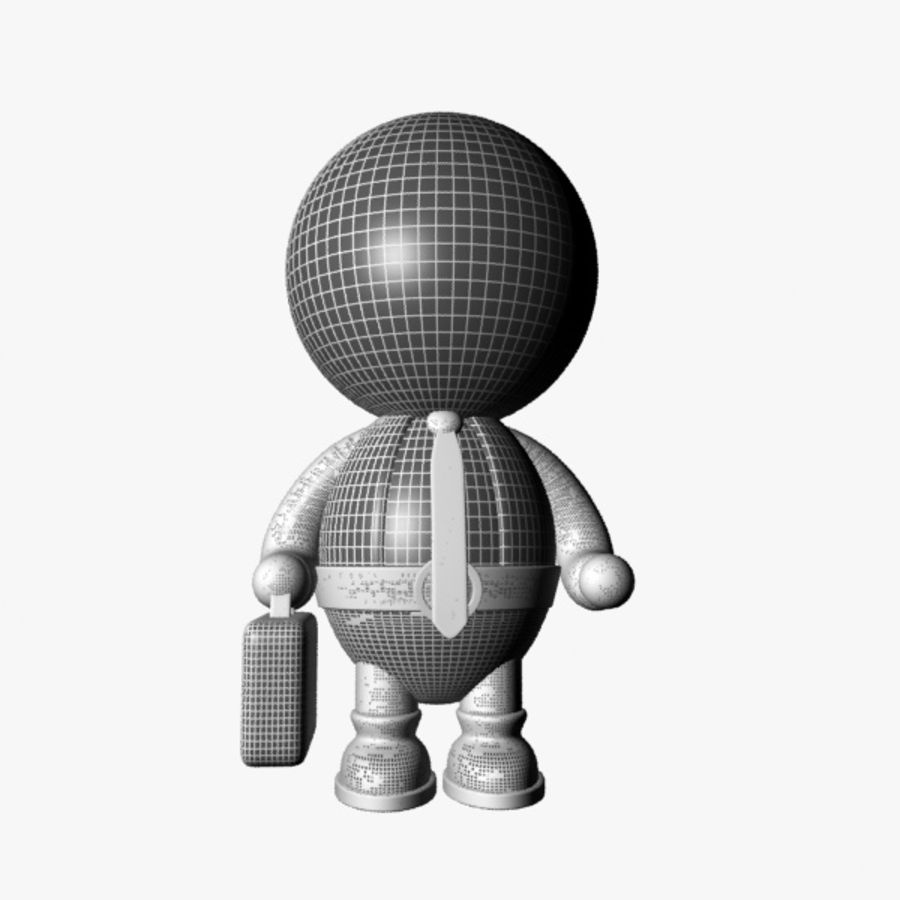 Cartoon Businessman Character royalty-free 3d model - Preview no. 10