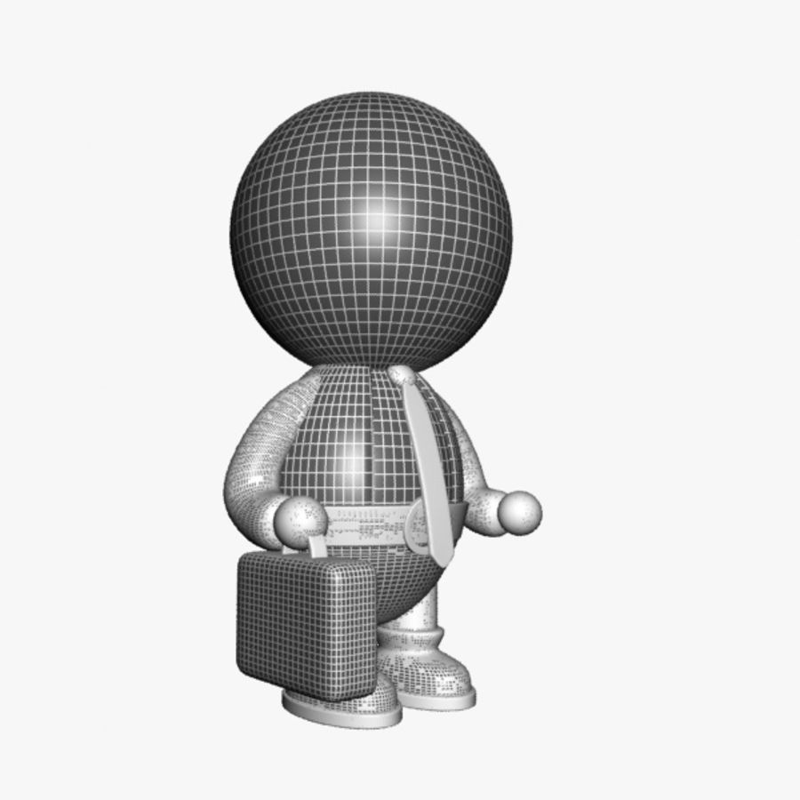 Cartoon Businessman Character royalty-free 3d model - Preview no. 9