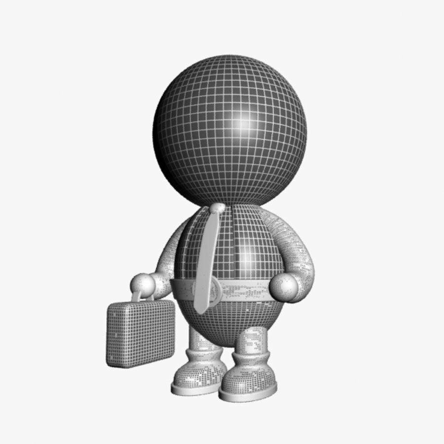 Cartoon Businessman Character royalty-free 3d model - Preview no. 8