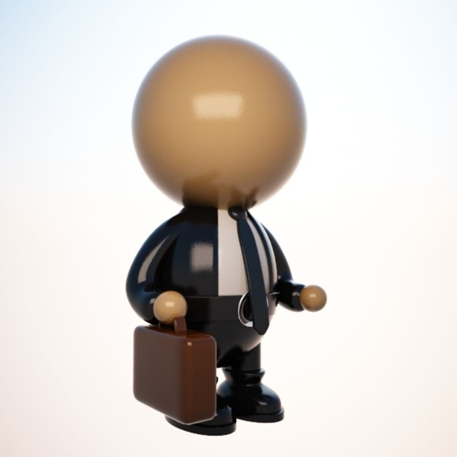 Cartoon Businessman Character royalty-free 3d model - Preview no. 2