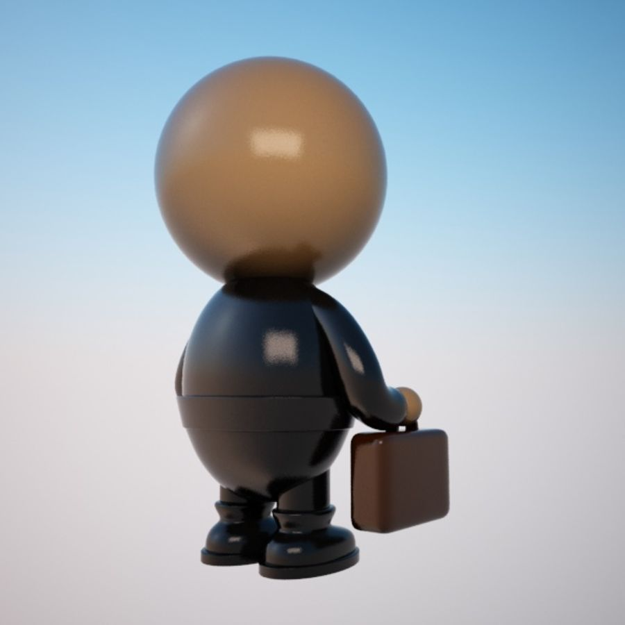 Cartoon Businessman Character royalty-free 3d model - Preview no. 5