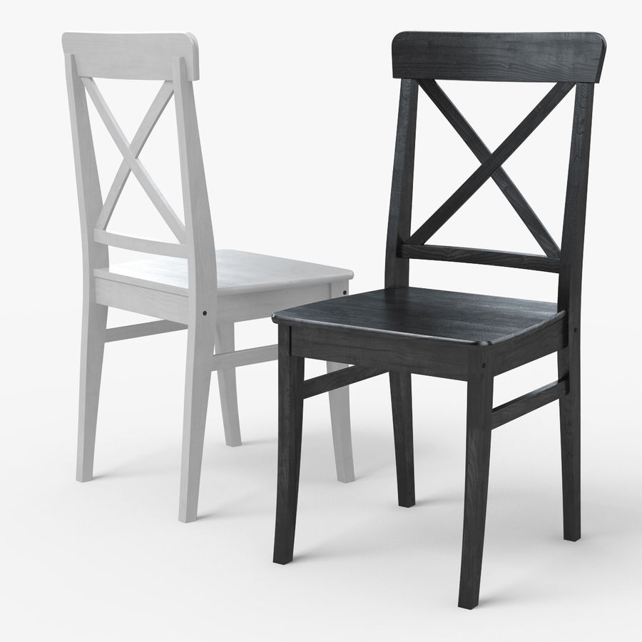 Ikea Dining Chairs: INGOLF IKEA Dining Chair 3D Model $9