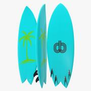 Surfboard Fish 4 3d model