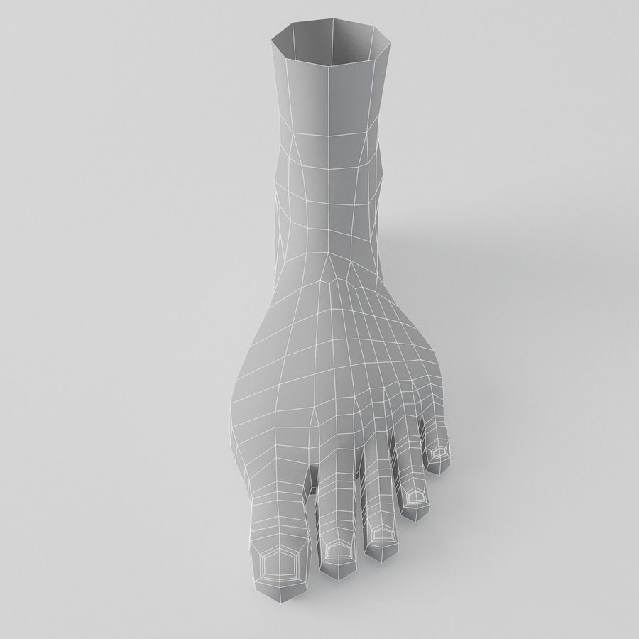 Foot royalty-free 3d model - Preview no. 13