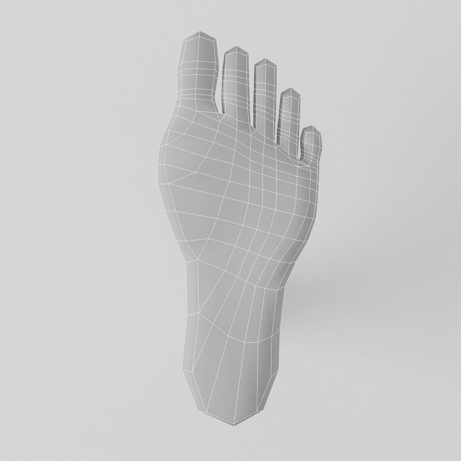 Foot royalty-free 3d model - Preview no. 11