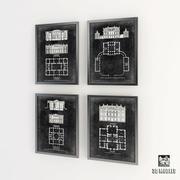 Eichholtz Prints Graphic Building & Plan 3d model
