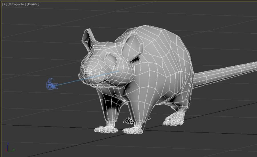 Rat royalty-free 3d model - Preview no. 10