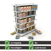 Supermarket Shelves Cereal 3d model