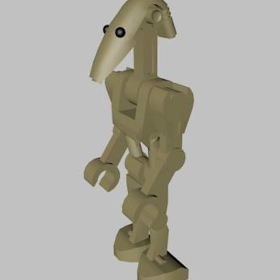 LEGO Star Wars Battle Droid Character royalty-free 3d model - Preview no. 3