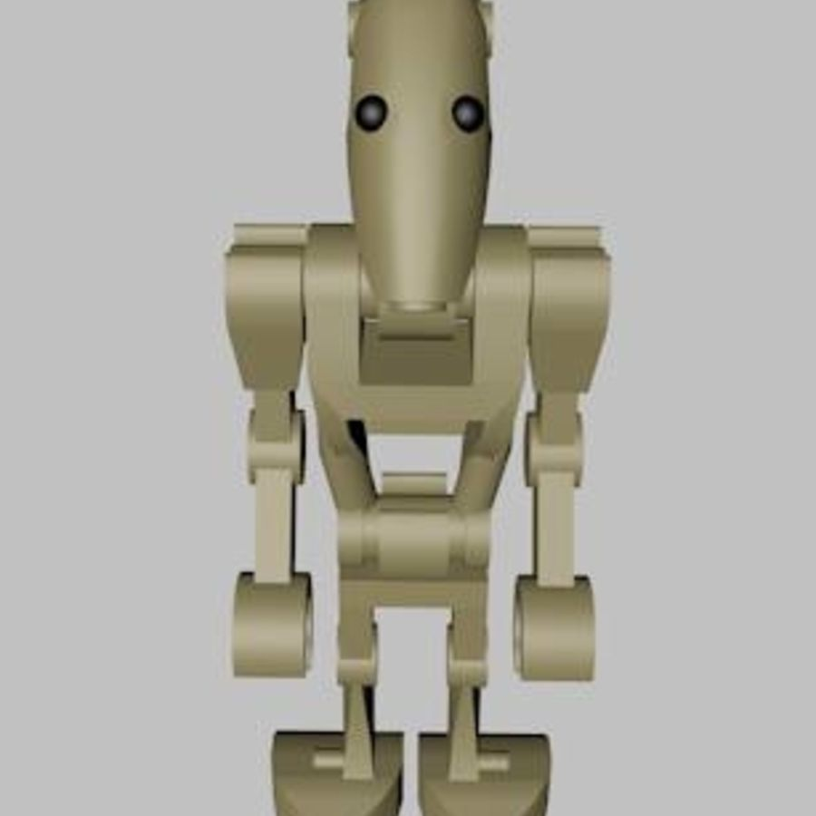 LEGO Star Wars Battle Droid Character royalty-free 3d model - Preview no. 5