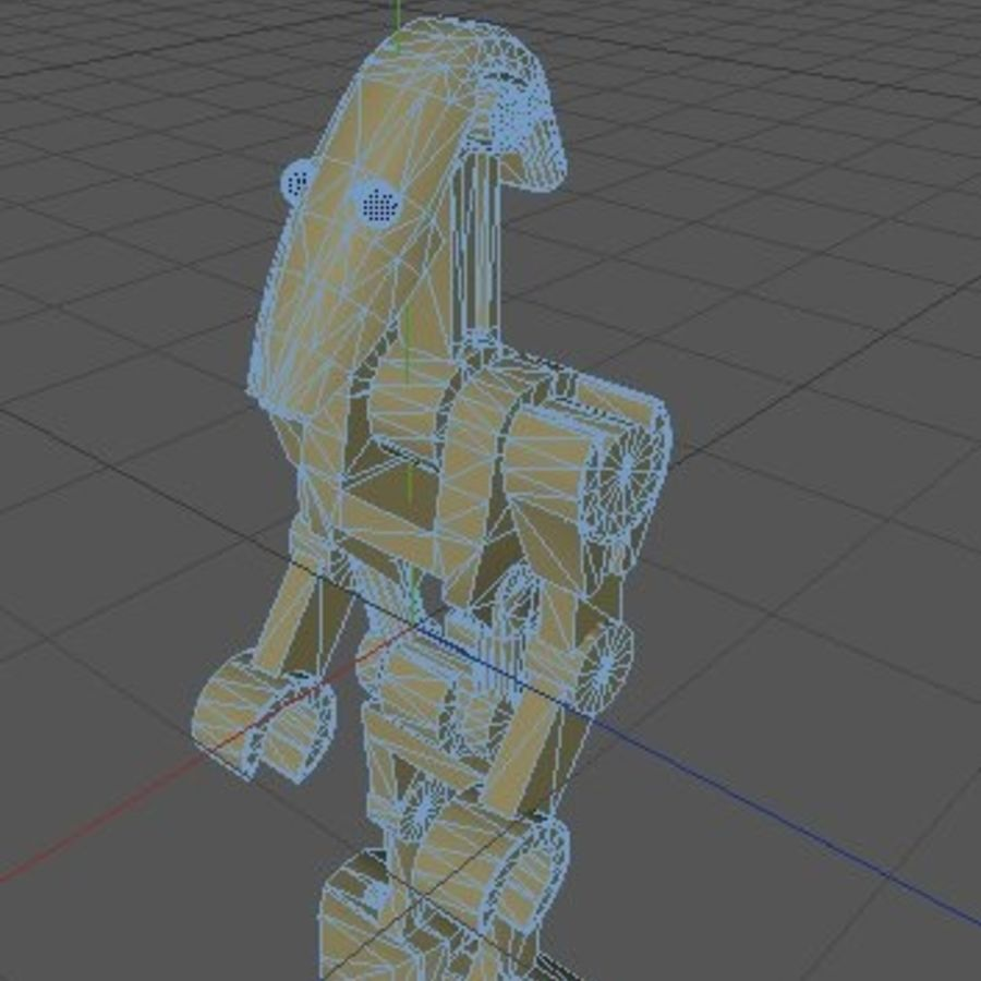 LEGO Star Wars Battle Droid Character royalty-free 3d model - Preview no. 6