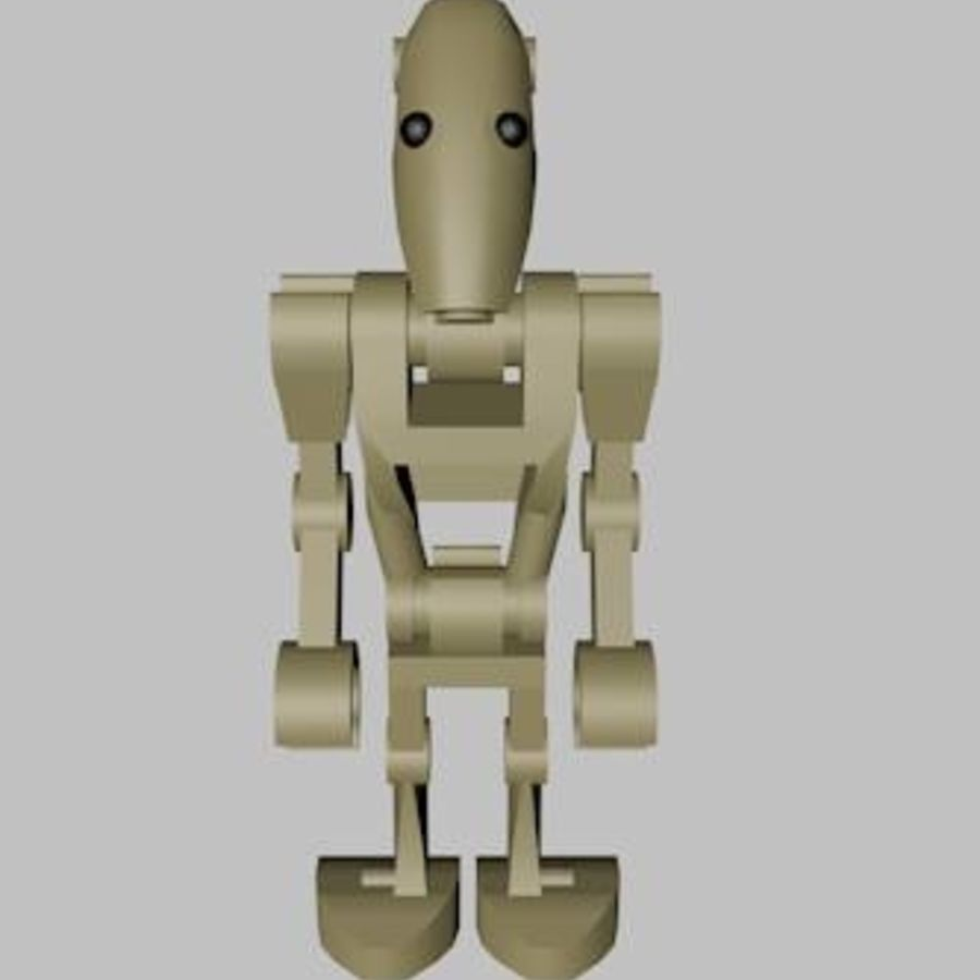 LEGO Star Wars Battle Droid Character royalty-free 3d model - Preview no. 2