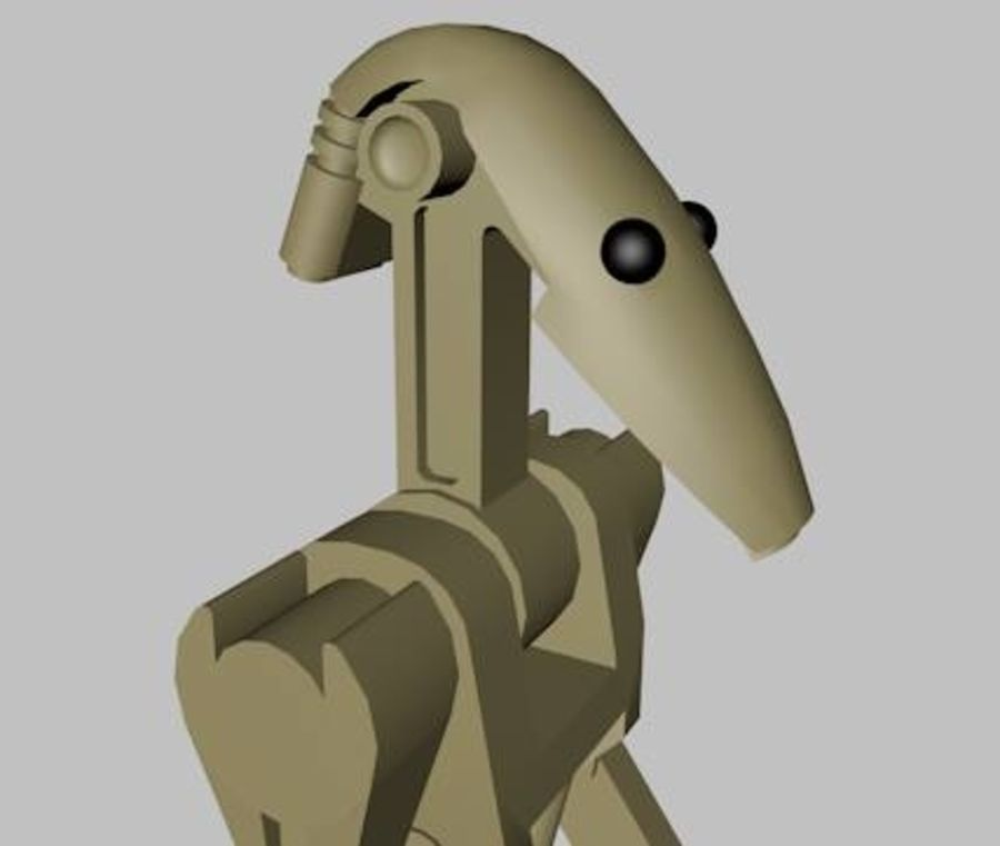LEGO Star Wars Battle Droid Character royalty-free 3d model - Preview no. 4