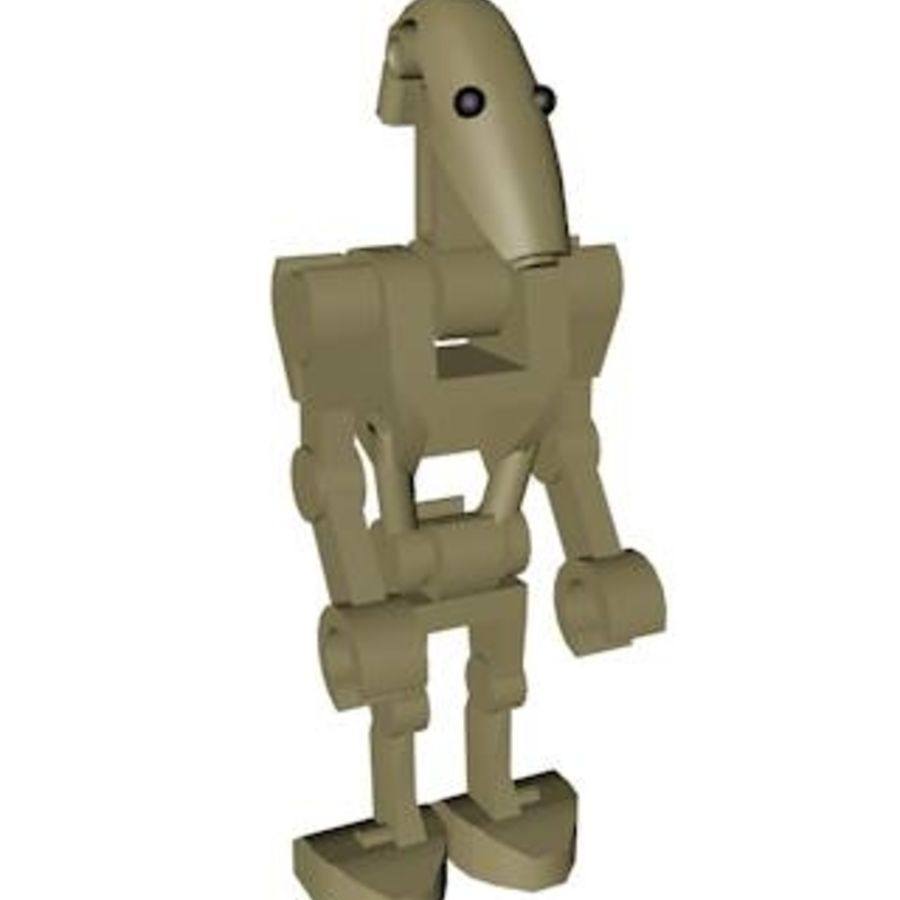 LEGO Star Wars Battle Droid Character royalty-free 3d model - Preview no. 1