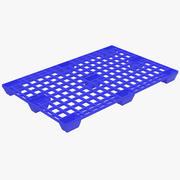 Plastic Pallet 2 Blue 3D Model 3d model