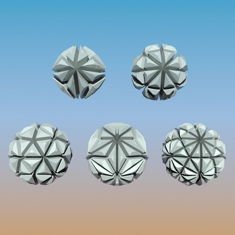 Geometric Shape Pack 04 royalty-free 3d model - Preview no. 6