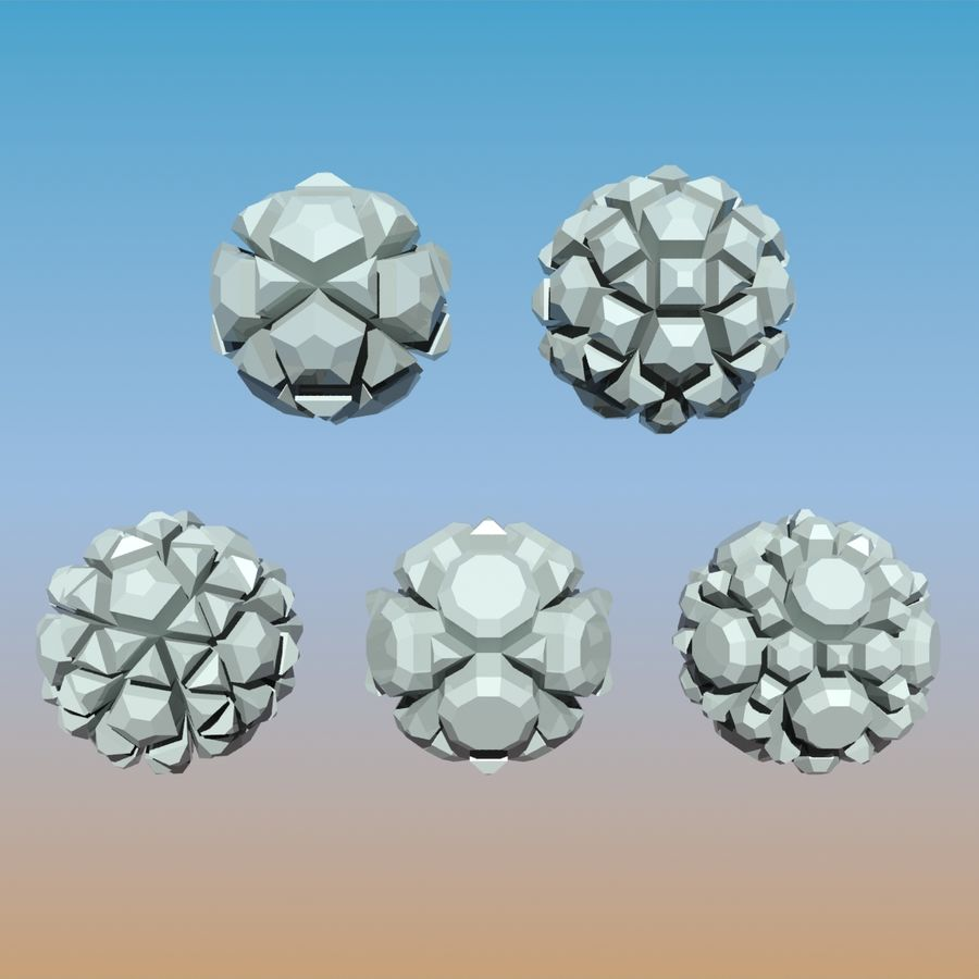 Geometric Shape Pack 04 royalty-free 3d model - Preview no. 5