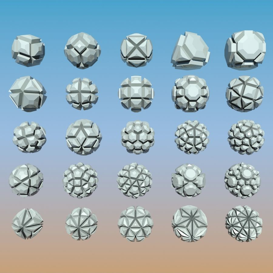 Geometric Shape Pack 04 royalty-free 3d model - Preview no. 1