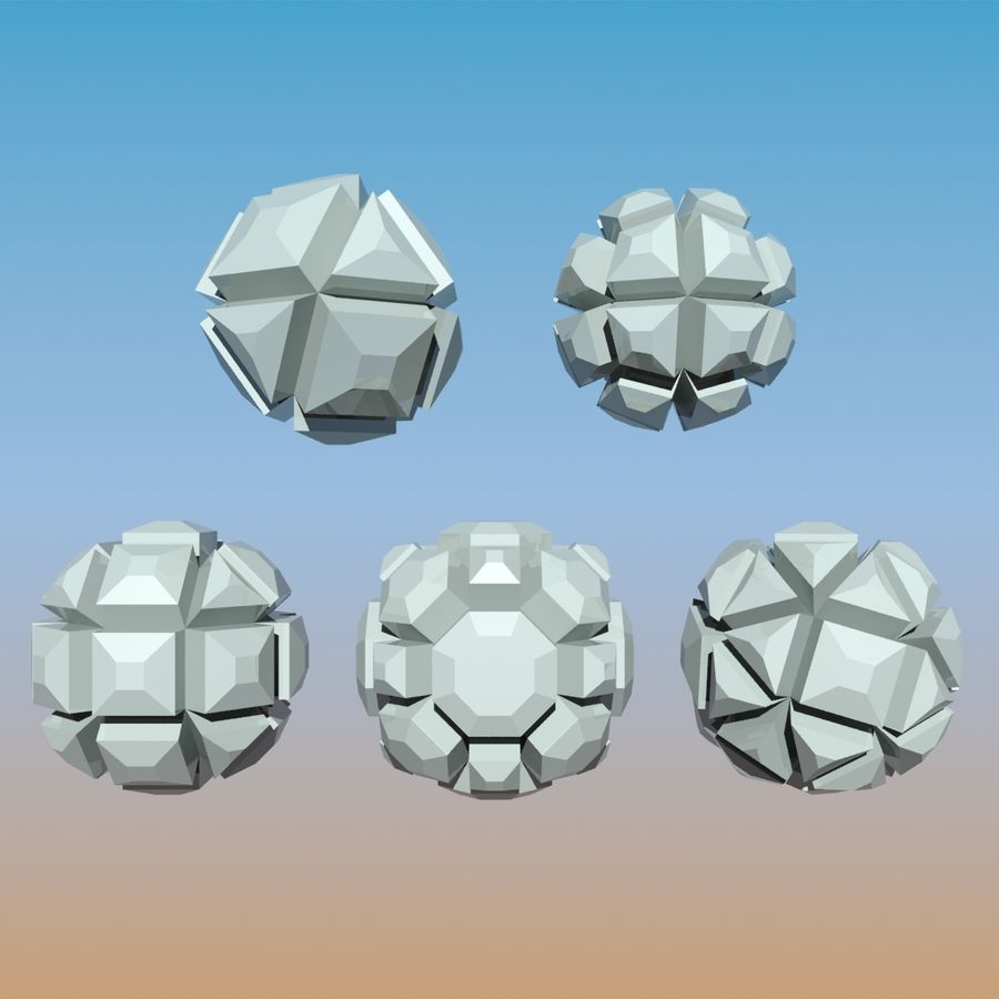Geometric Shape Pack 04 royalty-free 3d model - Preview no. 3