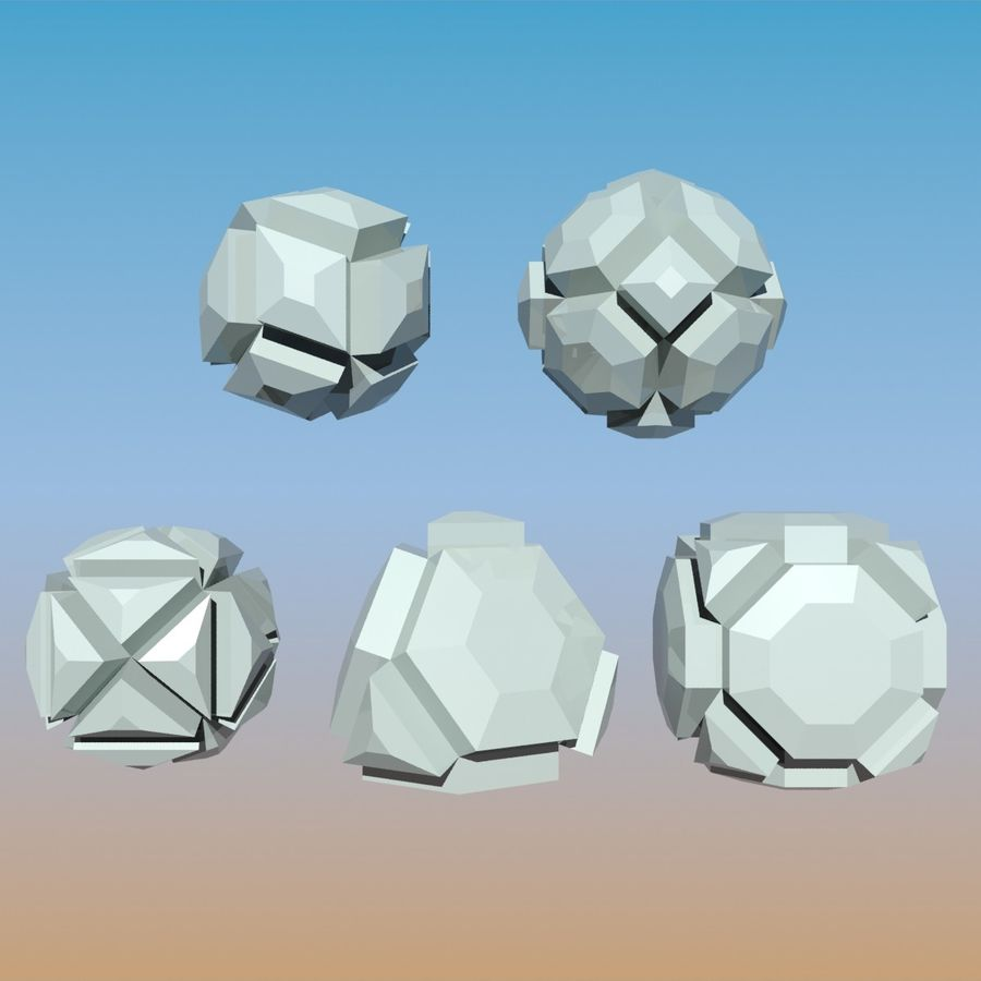 Geometric Shape Pack 04 royalty-free 3d model - Preview no. 2