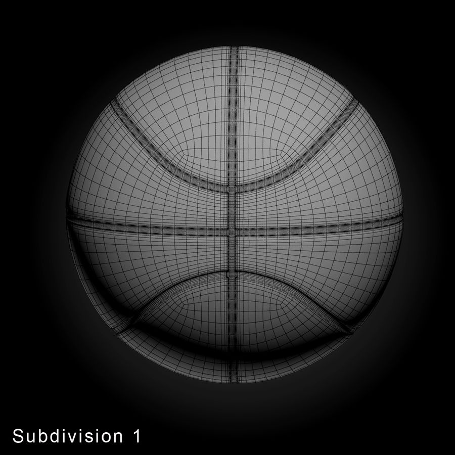 Pelota de baloncesto royalty-free modelo 3d - Preview no. 6