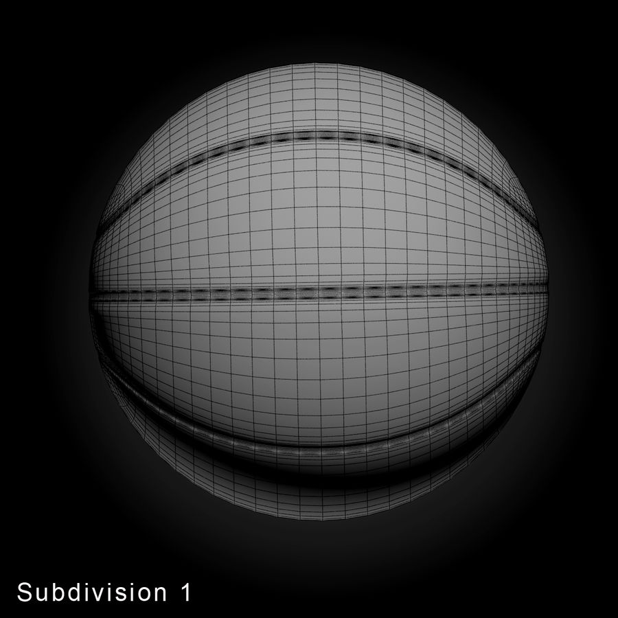 Pelota de baloncesto royalty-free modelo 3d - Preview no. 9