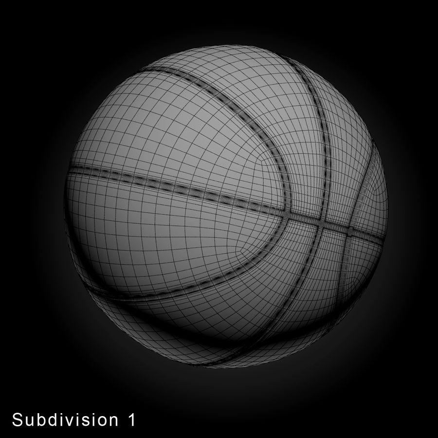 Pelota de baloncesto royalty-free modelo 3d - Preview no. 12