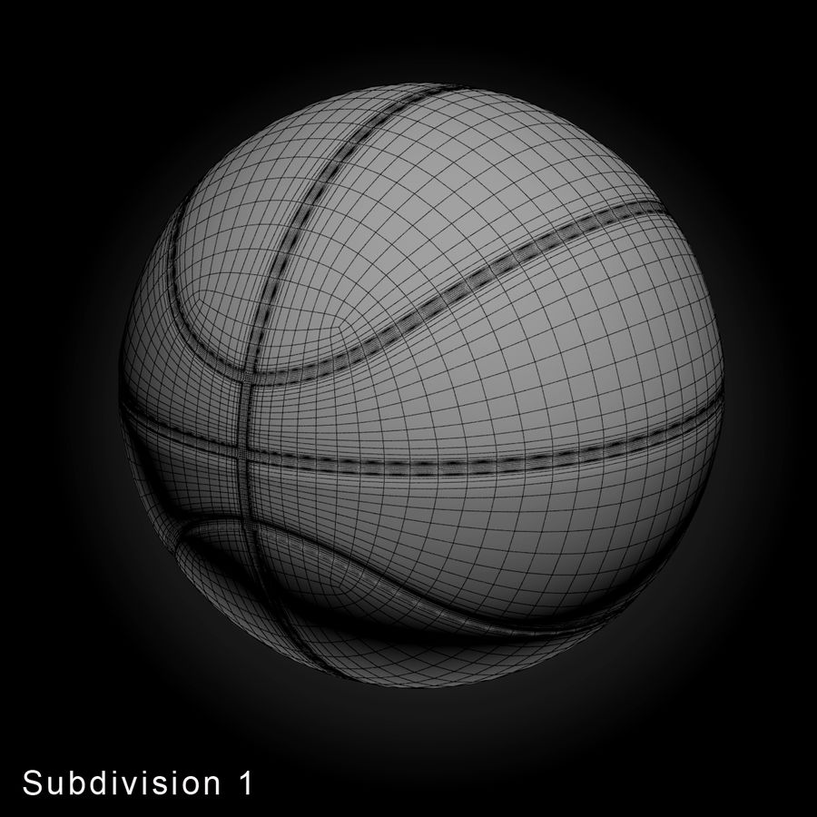 Pelota de baloncesto royalty-free modelo 3d - Preview no. 3