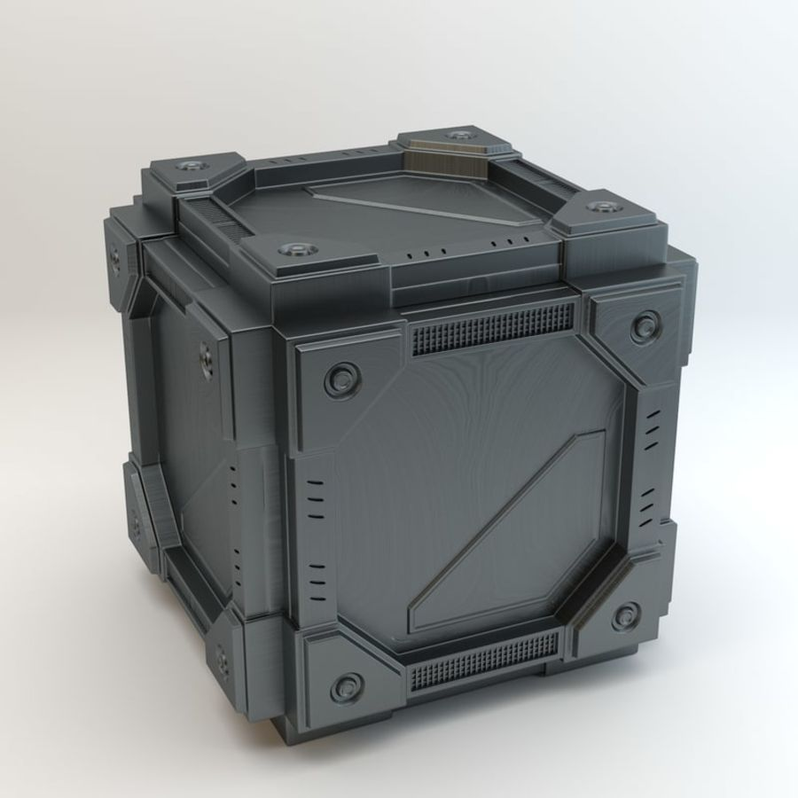 Sci-fi cube royalty-free 3d model - Preview no. 5