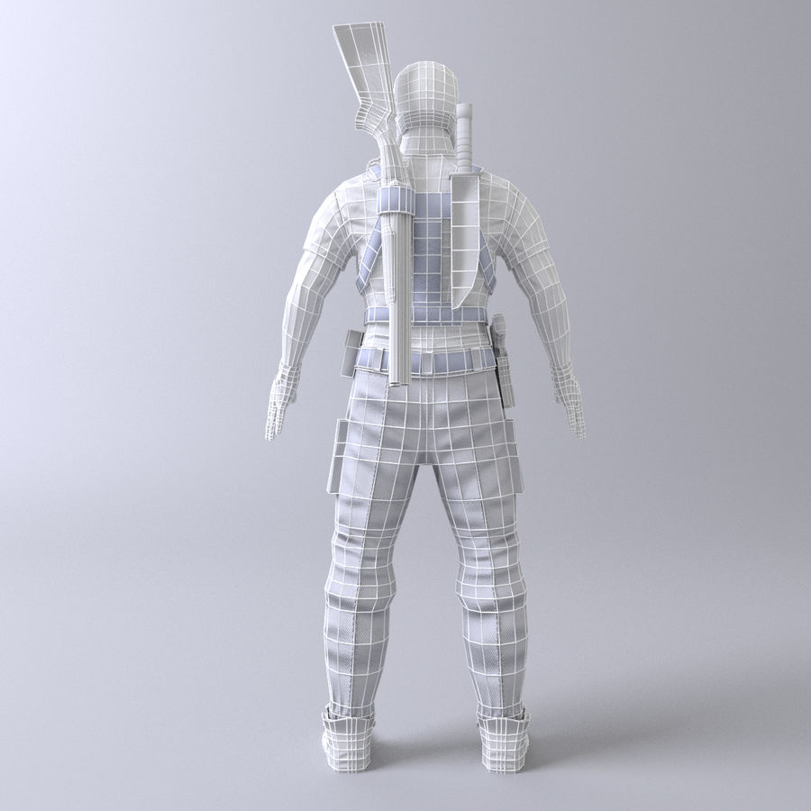 Soldato royalty-free 3d model - Preview no. 10