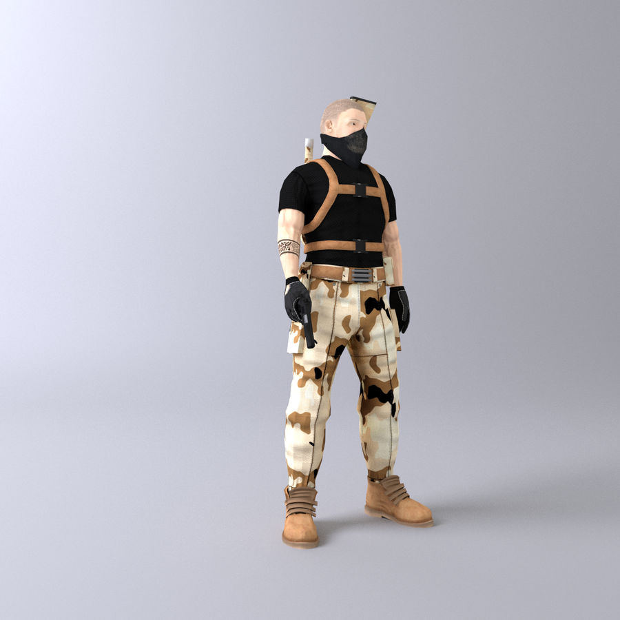 Soldato royalty-free 3d model - Preview no. 7
