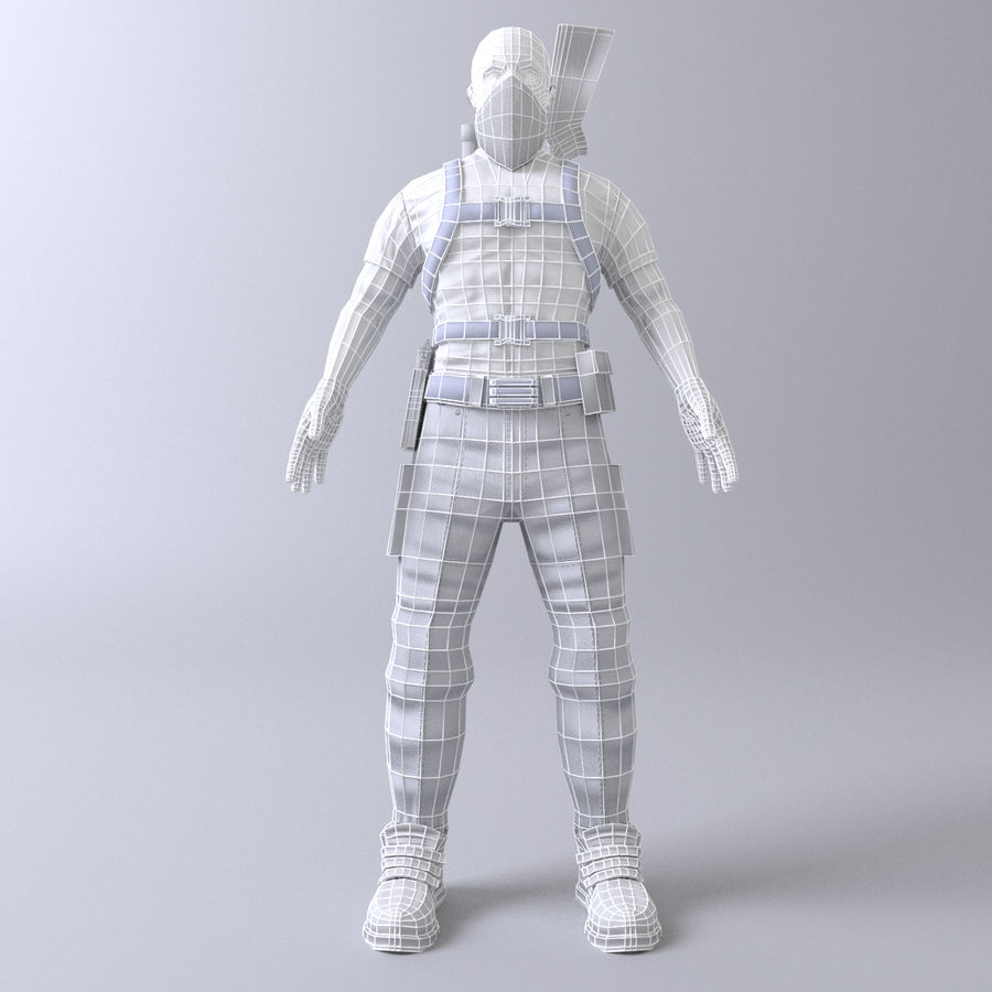 Soldato royalty-free 3d model - Preview no. 8