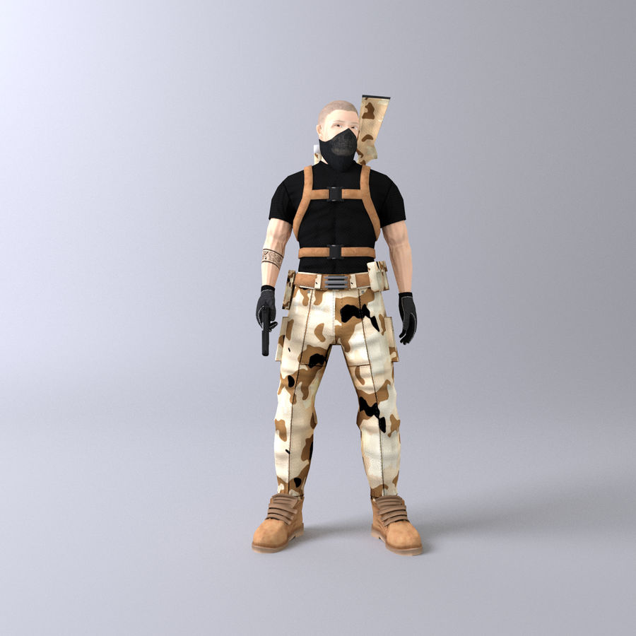 Soldato royalty-free 3d model - Preview no. 2