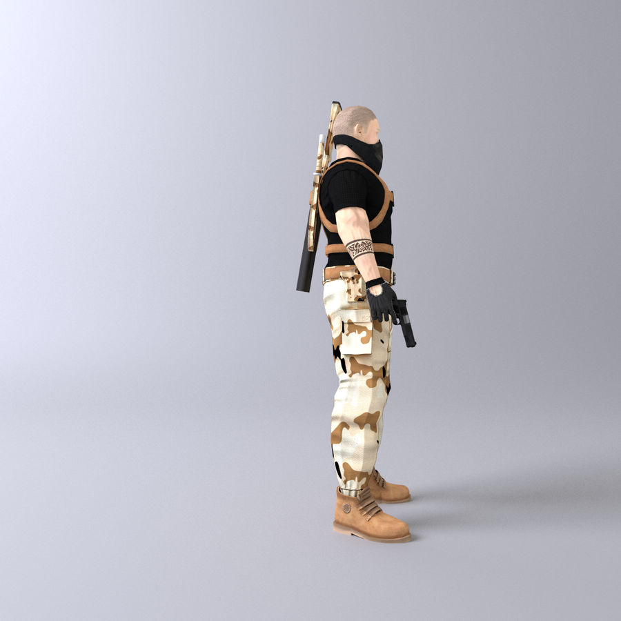 Soldato royalty-free 3d model - Preview no. 6