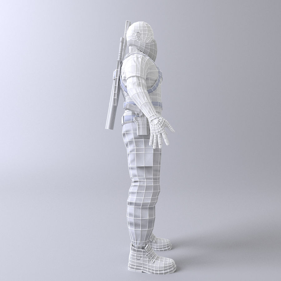 Soldato royalty-free 3d model - Preview no. 11