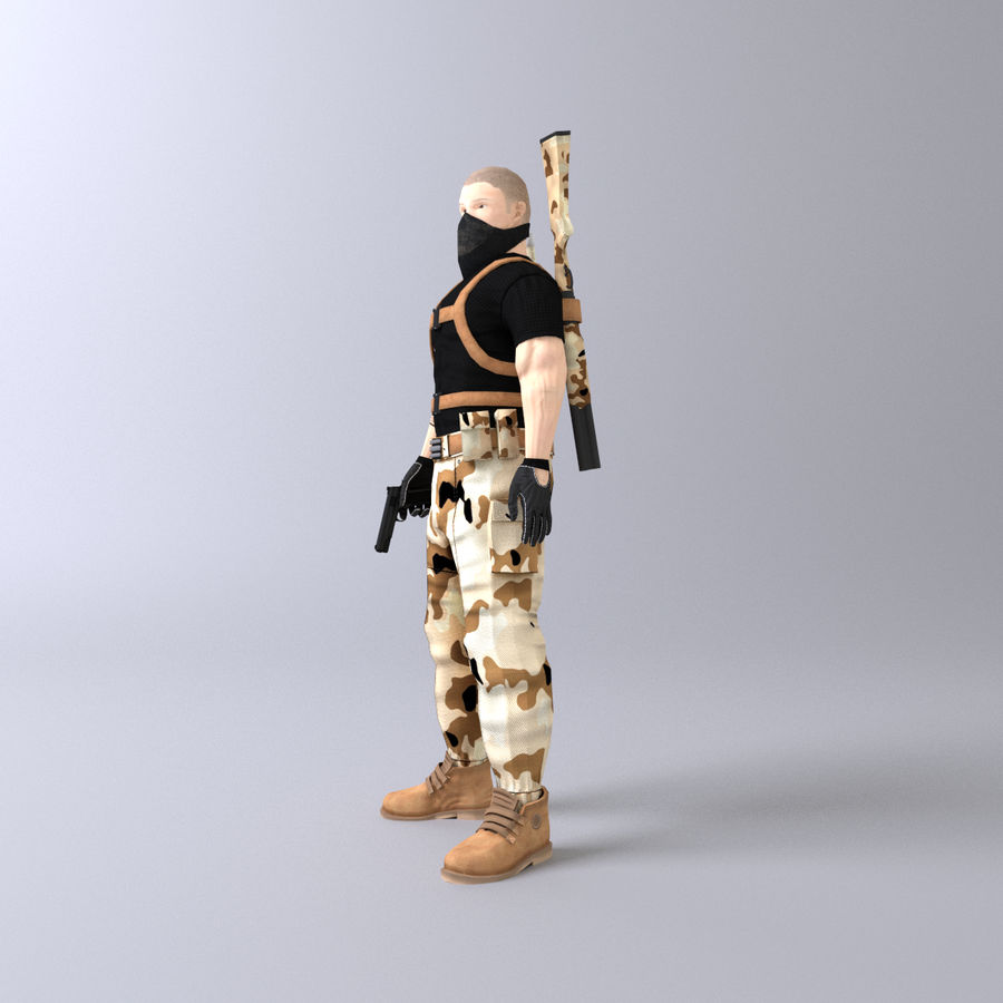 Soldato royalty-free 3d model - Preview no. 3
