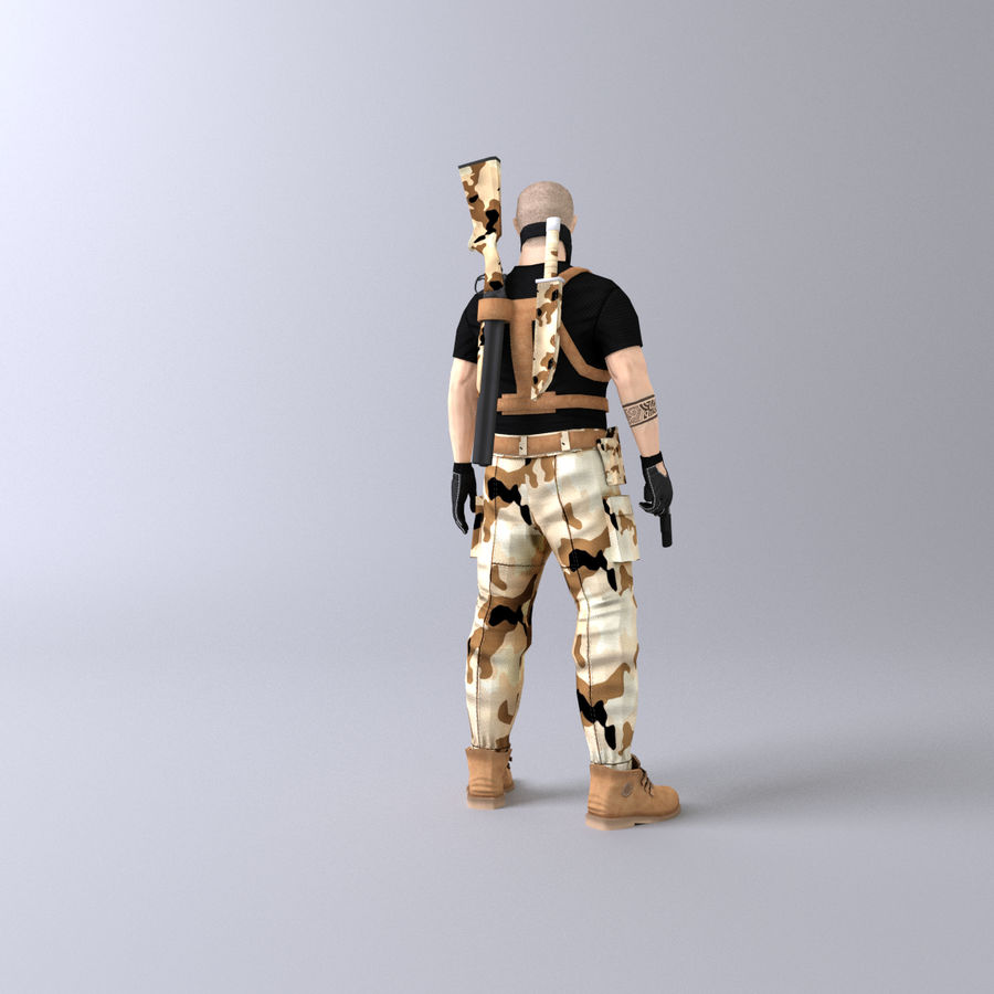 Soldato royalty-free 3d model - Preview no. 5