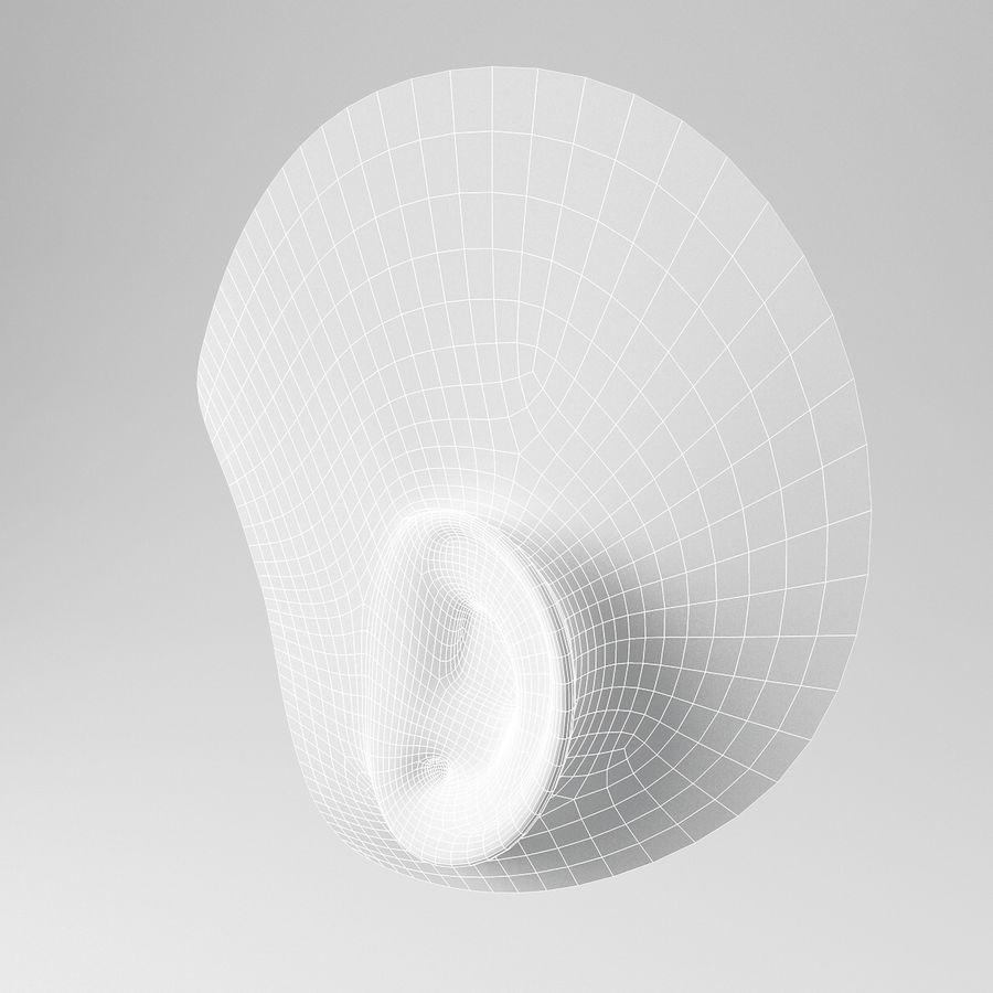 卡通耳朵 royalty-free 3d model - Preview no. 9