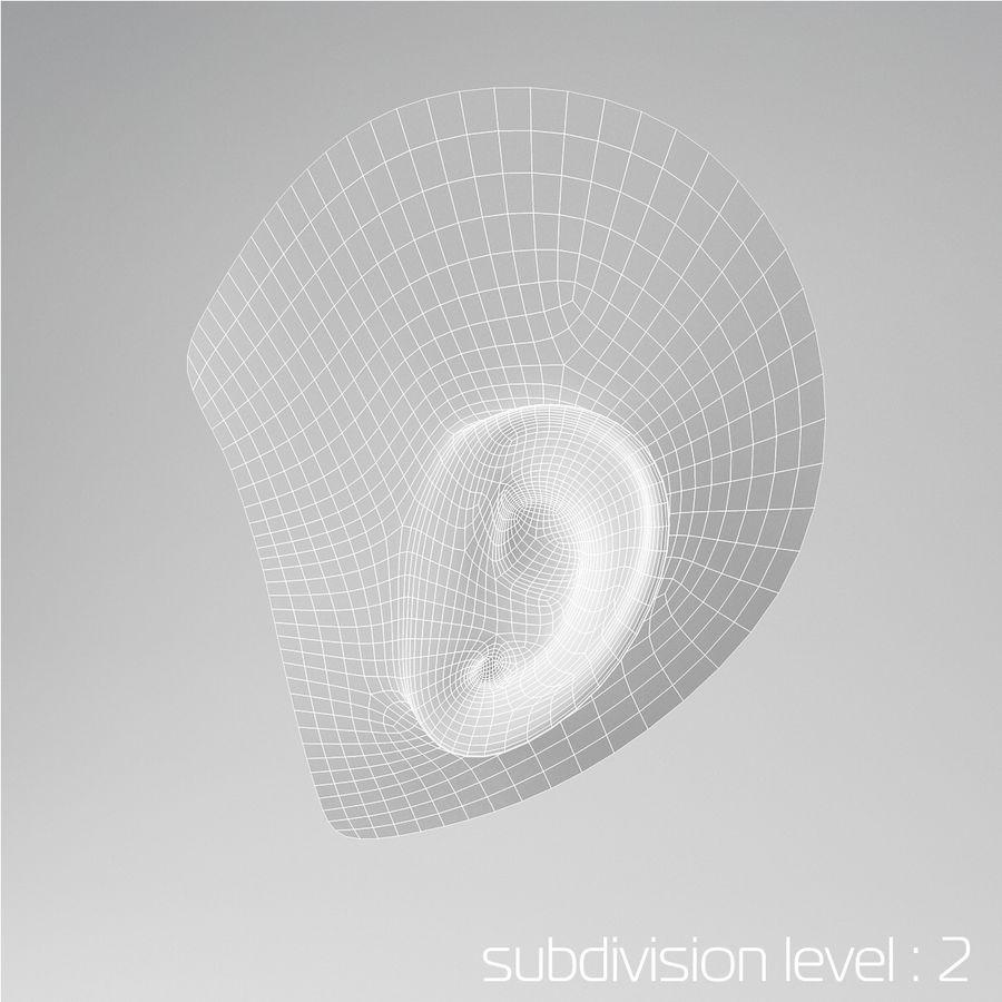 卡通耳朵 royalty-free 3d model - Preview no. 5