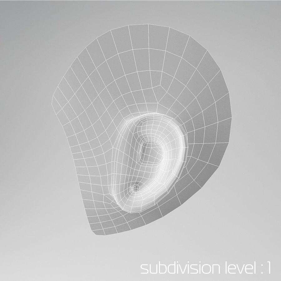 卡通耳朵 royalty-free 3d model - Preview no. 4