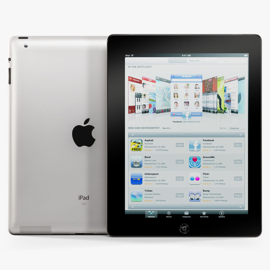 Apple iPad 2 royalty-free 3d model - Preview no. 1
