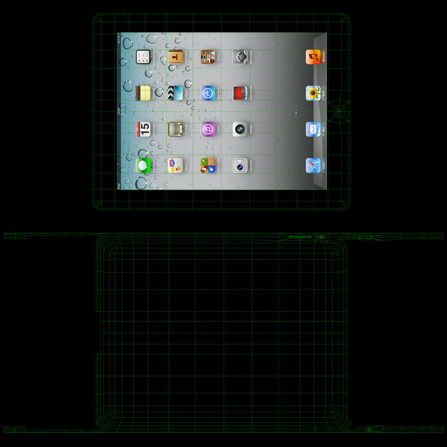 Apple iPad 2 royalty-free 3d model - Preview no. 16