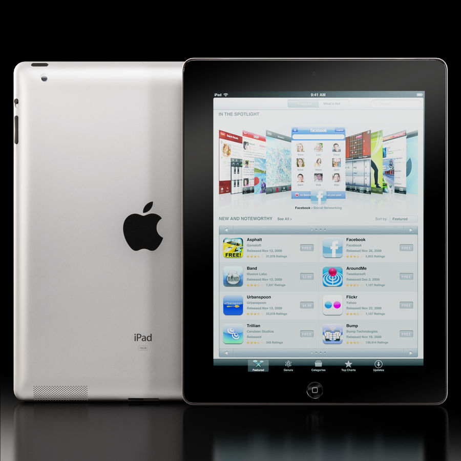 Apple iPad 2 royalty-free 3d model - Preview no. 2