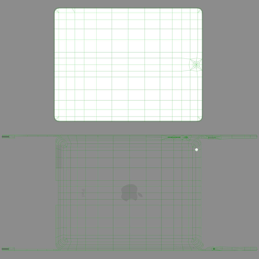 Apple iPad 2 royalty-free 3d model - Preview no. 17