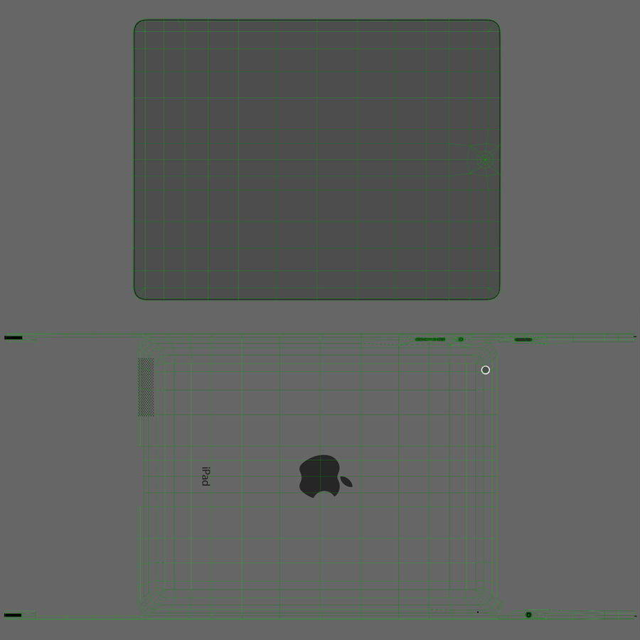 Apple iPad 2 royalty-free 3d model - Preview no. 18