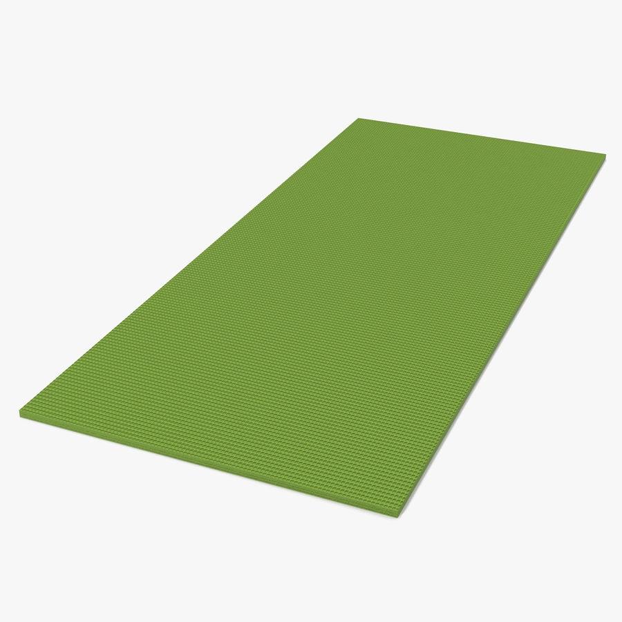 Flat Yoga Mat Green Royalty Free 3d Model