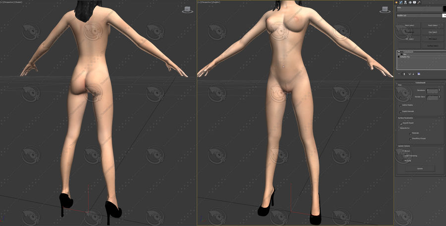 mulher royalty-free 3d model - Preview no. 6